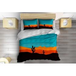 3D Lenjerie de pat abstractă Cactus - Cactus