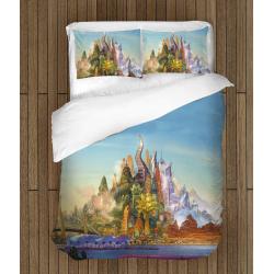 Cearșafuri pentru copii Castel colorat - Castle