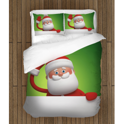 Lenjerie de pat pentru copii Crăciun Moș Gerilă - Santa Claus