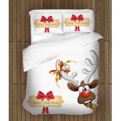 Set de pat cu reni Crăciun fericit - Merry Christmas