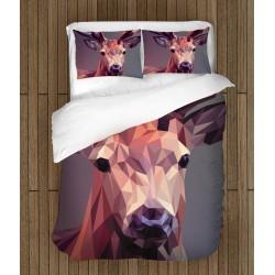 Lenjerie de pat cu animale Cerb geometric - Deer Geometric
