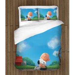 Lenjerie de pat pentru copii Snoopy și Charlie Brown - The Peanuts Love