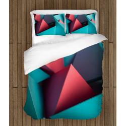 3D Lenjerie de pat elegantă Forme Geometrice - Geometrical Forms