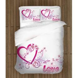 Set de pat romantică Iubire adevărată - Real Love