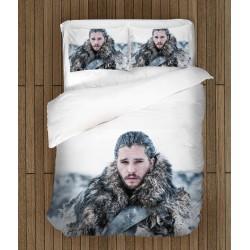 Lenjerie de pat Urzeala Tronurilor John Snow - Game of Thrones John Snow White