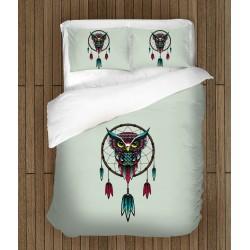 Set de pat modern cu bufniță Capcană de visuri - Dream Catcher