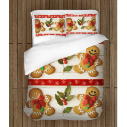 Lenjerie de pat cu motive de Crăciun Zâmbete de Crăciun- Christmas Smiles
