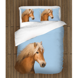 3D Lenjerie de pat frumoasă Cal - Horse Blue