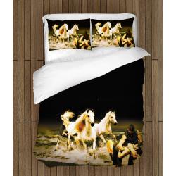 3D Lenjerie de pat romantică Cai - Horses Romance