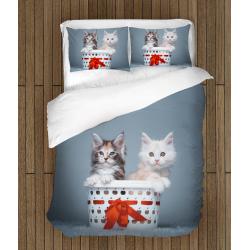Lenjerie de pat pentru copii adorabilă Pisici în coș - Cats in Basket