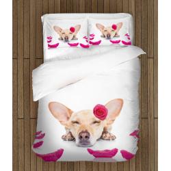 Set cearșafuri adorabile cu animale Cățel - Dog