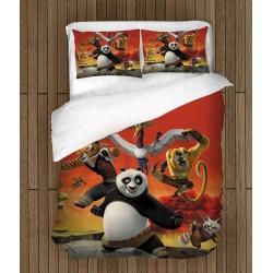 Lenjerie de pat pentru copii Kung Fu Panda