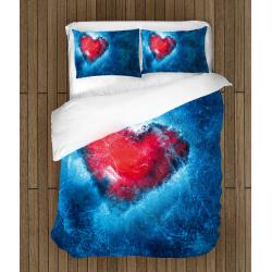 Lenjerie de pat de Lux Inimă de gheață - Ice Heart