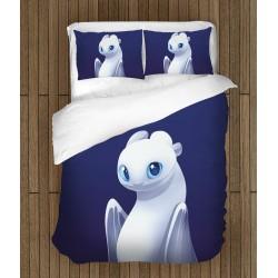 Set de pat pentru copii Cum să-ți dresezi dragonul - Light Fury