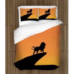 Lenjerie de pat impresionantă Lion King Sillhouette