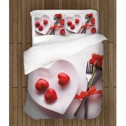 """Lenjerie de pat de Valentine""""s Day Iubire pentru micul dejun- Love for breakfast"""