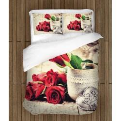 Set de pat romantică Poveste de dragoste - Love Story