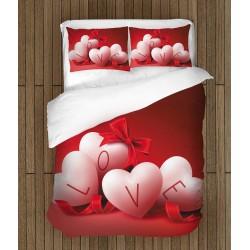Lenjerie de pat pentru îndrăgostiți Iubirea este peste tot - Love is Everywhere