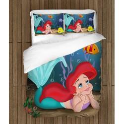 Lenjerie de pat pentru copii de Lux Mica Sirenă - The Little Mermaid Ariel