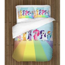 Set cearșafuri Micul meu ponei - Little Pony Rainbow