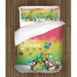 Lenjerie de pat pentru copii Crăciun - Mickey Mouse Christmas