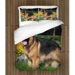 Cearșafuri de pat cu model Câine lup - German Shepherd Dog