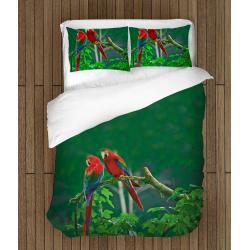 Lenjerie de pat artistică Papagali - Parrots