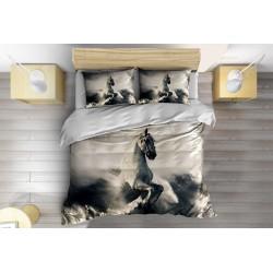 Lenjerie de pat frumoasă Pegas în nori- Pegasus in the Clouds