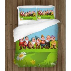 Lenjerie de pat pentru copii - The Seven Dwarfs
