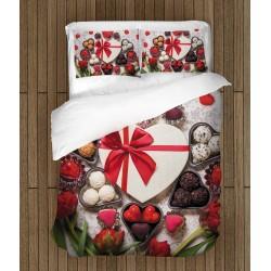 Set de pat pentru 2 persoane Preparat cu iubire - Cooked with Love