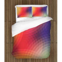 Lenjerie de pat de Design Cercuri colorate - Colorful Cyrcles