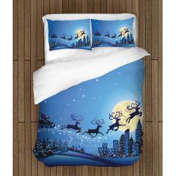 Lenjerie de pat de Crăciun Sania lui Moș Crăciun - Santa's Sledge