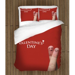 "Lenjerie de pat temă romantică - Happy Valentine""s Day"