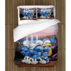 Set de pat pentru copii Fan Ștrumpfii - Smurfs