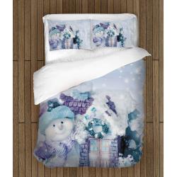 Lenjerie de pat Crăciun Om de zăpada - Snowman