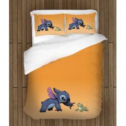 Set de pat pentru copii Stitch și broasca- Stitch and Frog