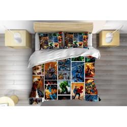 Lenjerie de pat pentru copii Superman Comics