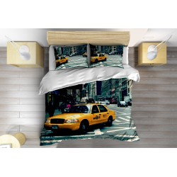 3D Lenjerie de pat Taxi în New York- Taxi in New York