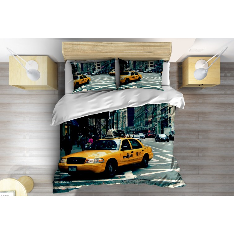 3D Lenjerie de pat Taxi în New York- Taxi in New York