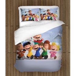 3D Set de pat pentru copii Snoopy și Charlie Brown -The Peanuts