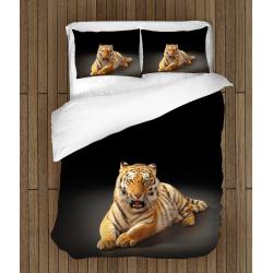 3D Set cearșafuri Tigru - Tiger Black