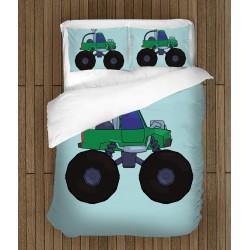 Lenjerie de pat pentru copii Tractoraș