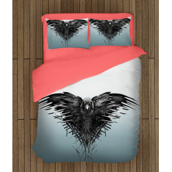 3D Lenjerie de pat Urzeala Tronurilor – Game Of Thrones Three-Eyed Crow