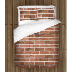 Set de pat interesant Textură cărămidă - Brick Texture