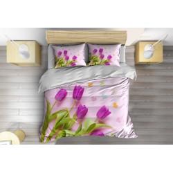 Lenjerie de pat Lalele move - Violet Tulips