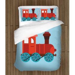 Set de pat pentru copii Tren- Train
