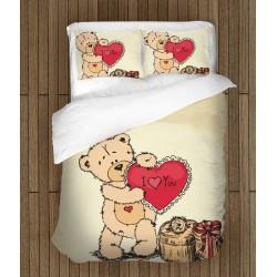 Lenjerie de pat romantică Ursuleț îndrăgostit- Teddy Bear in Love