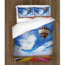 Lenjerie de pat Balon în cer - Ballon Into the Sky