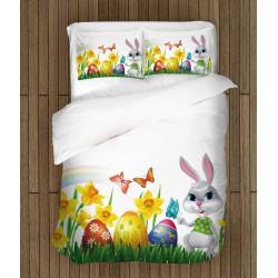 Lenjerie de pat de primăvară Paște multicolor - Colorful Easter