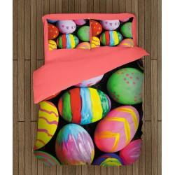 Set de pat festiv Ouă vopsite de Paști - Colorful Easter Eggs